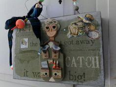 Fisherman cigar box purse by Cyndi Greer