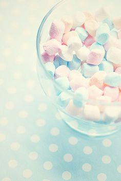 pastel marshmallows.