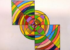 A great connection to math concepts - geometric shape, pattern, repetition at http://artiswhatiteach.blogspot.com