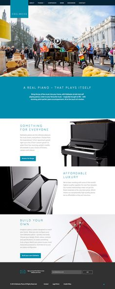 Edelweiss Pianos (More web design inspiration at topdesigninspiration.com) #design #web #webdesign #inspiration #sitedesign #responsive
