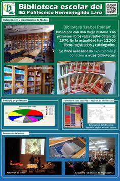 Servicios, programas y actuaciones de la biblioteca escolar del IES Hermenegildo Lanz de Granada, vía Mª Dolores Prados