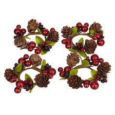 John Lewis Berries and Acorns Napkin Rings