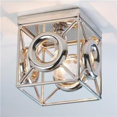 Silver Fretwork Ceiling Light by cathleen