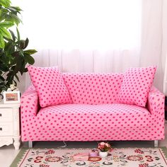 Universal Dots Print Corner Sofa Cover For Living Room,polyester Anti Slip  Couch Sofa