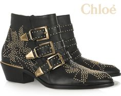 WANT: Chloe Studded leather ankle boots. (...Follow The LANE: Instagram the_lane Facebook: www.facebook.com/thelane Mailing List: www.thelane.com/newsletter )