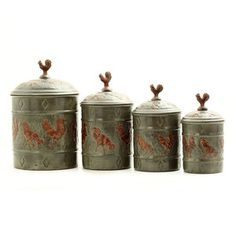 Rooster Canister Set, now featured on Fab.