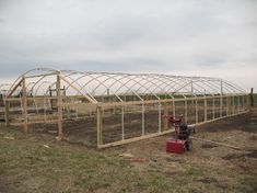 Wood and PVC Hoop Greenhouse
