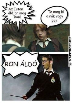 Napi Troll | Az Isten áldjon meg, Ron! Funny Jockes, Funny Fails, Harry Potter Wizard, Harry Potter Humor, Troll, W Two Worlds, Bad Memes, Everything Funny, Good Jokes