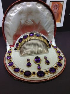 Antique Amethyst and gold parure created by Mellerio dits Meller
