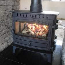 Double sided multifuel stove from local supplier Gas And Electric, Gas Fires, Wood Burning, Stove, Living Spaces, Home Appliances, Design, House Appliances, Woodburning