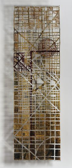 City In The Aire map art quilt by Eszter Bornemisza Textile Fiber Art, Textile Artists, Map Quilt, Quilts, Creative Textiles, A Level Art, Collage, Fabric Manipulation, Fabric Art