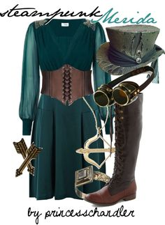 """Steampunk Merida"" by princesschandler on Polyvore"