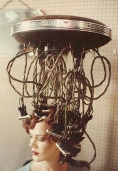 This seems dangerous. :) #Hair #Salon #Retro