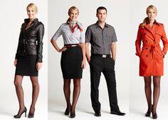 Banana Republic uniforms for Virgin America Airline chic?  What do you think? #Fashion #Uniform