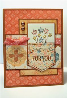 What a cute use of this stamp set for a feminine card!    scrappinbliss: Autumn/Winter 2012 New Product Blog Hop