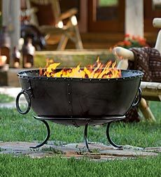 Bronze Kettle Fire Pit With Riveted Accents And Bold Style