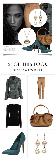 """SHOP - Pearl Collective - Necklace & Earrings"" by pearlcollective ❤ liked on Polyvore featuring Dollhouse, H&M, Oasis, Cole Haan and Schutz"