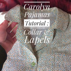 Carolyn Pajamas : Sewing the Collar & Lapels – a Photo Tutorial type thingy! Sewing Tutorials, Sewing Hacks, Sewing Projects, Sewing Patterns, Shirt Tutorial, Photo Tutorial, Pajama Pattern, Collar Pattern, Diy Clothing