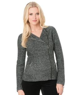 A Pea in the Pod Long Sleeve Zip Front Maternity Jacket MATERNITY JACKET. ZIP FRONT. LONG SLEEVE. SPLIT NECK.  #APeaInThePod #Apparel