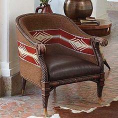 Ideas for Western Furniture Southwestern Chairs, Southwest Decor, Southwestern Decorating, Southwest Style, Western Furniture, Rustic Furniture, Home Furniture, Furniture Design, Poltrona Bergere