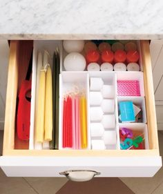 Store like with like. | It's true: closets, desks, drawers, and countertops overflowing with clutter can cause stress and guilt. Here's how to get organized for greater efficiency and peace of mind.