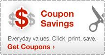 Target samples page.  Register to get sample packages and coupons for other products.