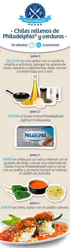 Una nueva forma y además saludable de preparar chiles rellenos, ¡deliciosa!