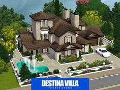 The Sims Resource - TSR Destina luxury mansion by Takdis - Sims 3 Downloads CC Caboodle
