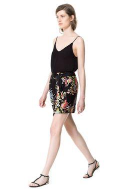 PRINTED SARONG SKIRT - Skirts - Woman | ZARA Canada