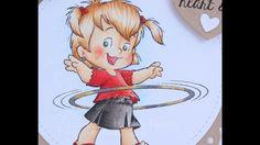 Hoola Twila Copic Coloring Card Kit
