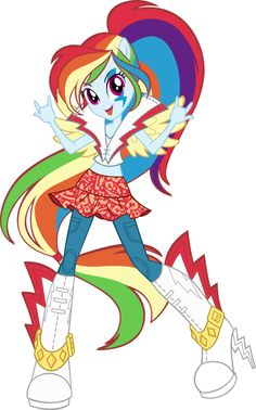 Rainbow dash in rainbow rocks