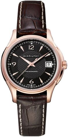 @hamiltonwfan  Watch Jazzmaster Viewmatic #bezel-fixed #bracelet-strap-leather #brand-hamilton #case-depth-10-1mm #case-material-rose-gold #case-width-37mm #date-yes #delivery-timescale-call-us #dial-colour-black #gender-mens #limited-code #luxury #movement-automatic #official-stockist-for-hamilton-watches #packaging-hamilton-watch-packaging #style-dress #subcat-jazzmaster #supplier-model-no-h32445585 #warranty-hamilton-official-2-year-guarantee #water-resistant-50m