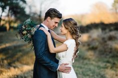Stunning sunset wedding portraits in Cologne, Germany via Magnolia Rouge