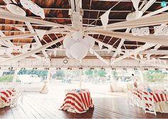 Carnival Wedding Inspiration: Stripe Linens