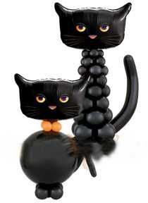 black cat balloon decoration