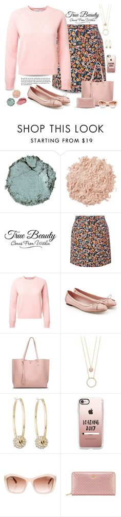 """Pink cashmere sweater"" by puppylove7 ❤ liked on Polyvore featuring Chantecaille, La Mer, WALL, Dorothy Perkins, Salvatore Ferragamo, Kate Spade, Lydell NYC, Casetify, Chanel and Tory Burch"