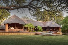 River Camp, African House, Cottage Design, House Design, Bali House, Rustic Wood Furniture, Luxury Homes Dream Houses, Thatched Roof, African Safari