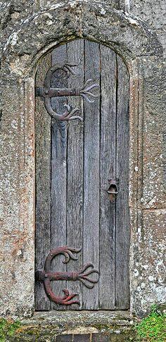 Weathered old church door maybe it's being married to a blacksmith but I;ve fallen in love with old doors and weathervanes Cool Doors, Unique Doors, The Doors, Windows And Doors, Knobs And Knockers, Door Knobs, Door Handles, When One Door Closes, Door Gate