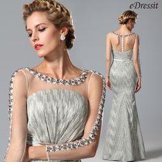 eDressit Lange Ärmel Kleid der Brautmutter mit Perlen (26151208)