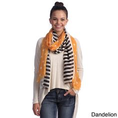 Women's Polka Dots With Stripes Scarf | Overstock™ Shopping - Great Deals on Scarves