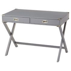 Mercury Row Neptune Campaign 2 Drawer Writing Desk