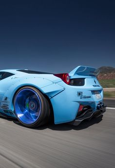 Ferrari 458 by LB Pe top gear hot cars - Auto Modelle Luxury Sports Cars, Koenigsegg, Ferrari 458, Blue Lamborghini, Ferrari 2017, Sexy Cars, Hot Cars, Bugatti, Supercars