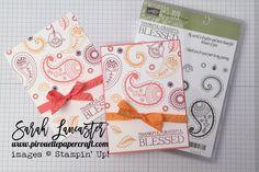 Autumn:Winter Catalogue Sneak Peek Paisleys & Posies Card Stampin' Up!