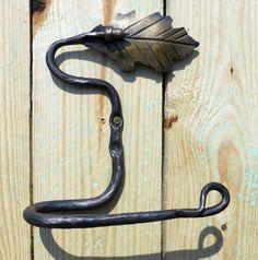 Oak Leaf & Acorn top Toilet tissue holder by blacksmith on Etsy, $34.99