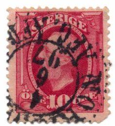 Rare world stamps   Stamp / stämpel: King Oscar II - / Sweden #1425