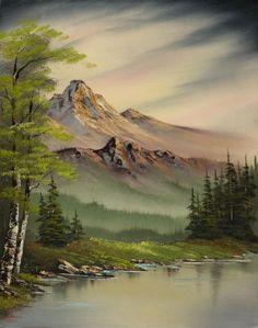 bob ross evenings peace 86018 painting