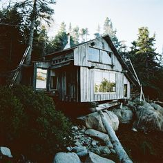 cabinporn Tumblr Cabin with driftwood stairs in Maine.    Photographed by A. William Frederick.