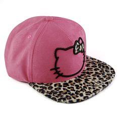 Boné Strapback Hello Kitty Leopard #HElloKitty #Leopard #Cap #Boné #bandUPStore #LojadaHelloKitty #HelloKittyLovers