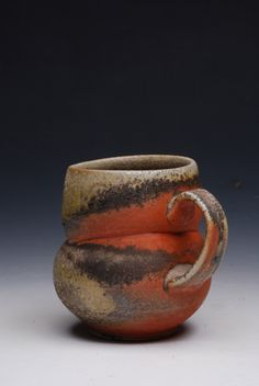 Perry Haas; Strictly functional 2012 - anagama fired, natural wood ash glaze.