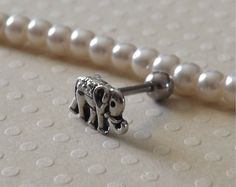 Elephant Tiny Cartilage 16ga Tragus Earring Body Jewelry Ear Piercing